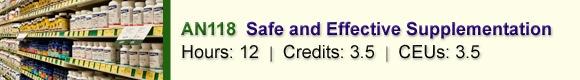 AN118 Safe and Effective Supplementation – CSNN Ottawa, ON